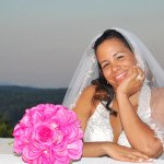 Bride enjoying her wedding at Cavender Castle