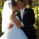 Bride & Groom Kiss at Cavender Castle