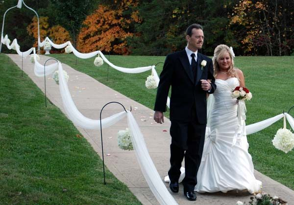 Outdoor Wedding Ceremony at Cavender Castle