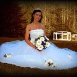 Cavender Castle bride at wedding gazebo
