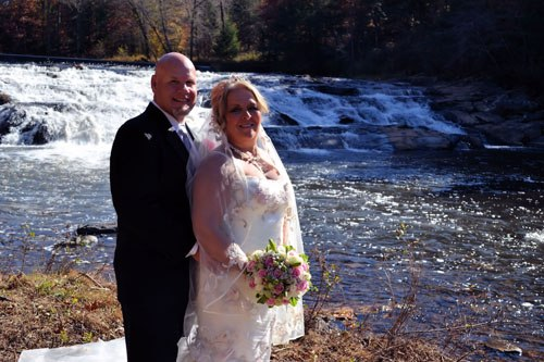 Far Winds Waterfall Wedding Ceremony location