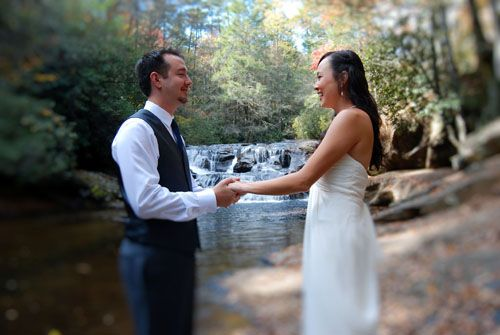 Waterfall weddings places to get married in georgia for Places to get married in california