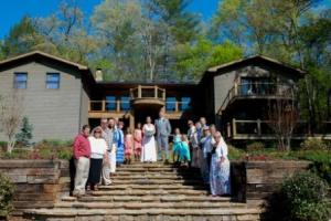 Family Wedding in Cabin
