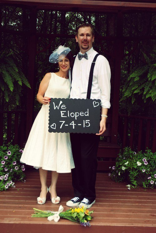 Couple eloping on our All inclusive elopement packages