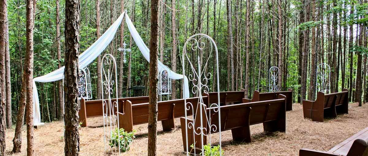 """Out There"" Outdoor Wedding Chapel - Outdoor Wedding Venues Georgia"